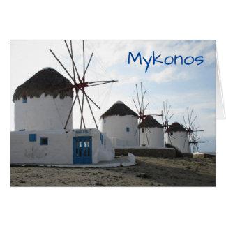 The Windmills, Mykonos, Greece Card