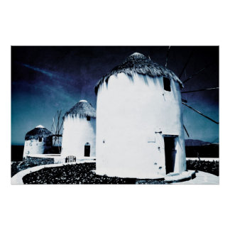 The windmills of Mykonos - Poster