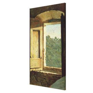 The Window (oil on canvas) Canvas Print