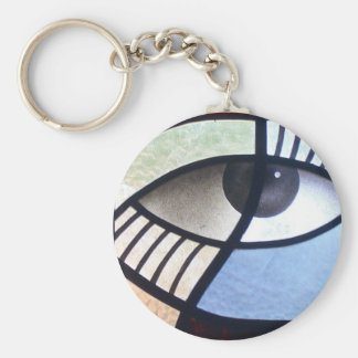 The Window to the Soul Basic Round Button Key Ring