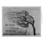 The Winds of Change - Blank Inside - Big Greeting Card