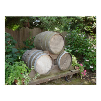 The Wine Barrels in Northern California Poster