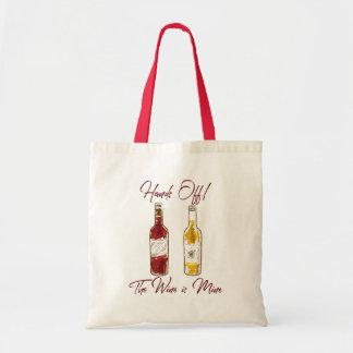 The wine is mine tote bag
