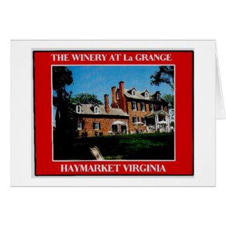 THE WINERY AT La GRANGE 3 Card