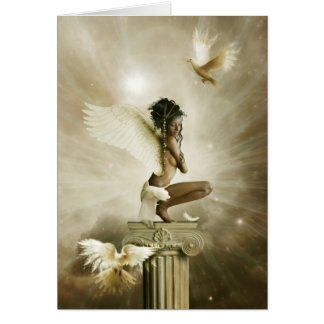 the winged being card