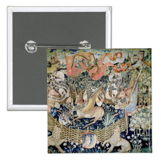 The Winged Deer (tapestry) 15 Cm Square Badge