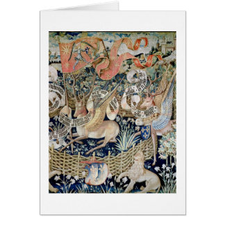 The Winged Deer (tapestry) Card