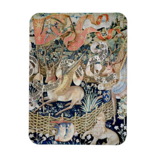 The Winged Deer (tapestry) Rectangular Photo Magnet