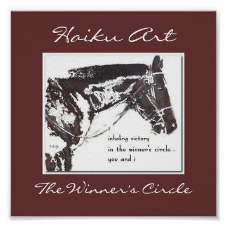 The Winner's Circle Haiku Art Print