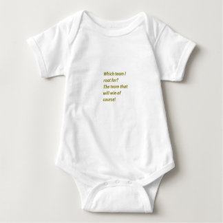 The winning supporter baby bodysuit