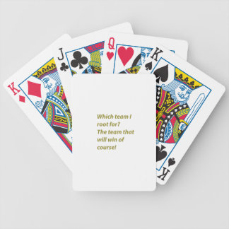 The winning supporter bicycle playing cards