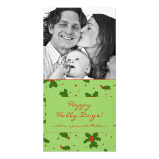 The Winter: Happy Holly Days Pattern Photocard Card