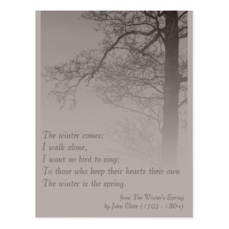 The Winter's Spring CC0373 Poetry Postcard