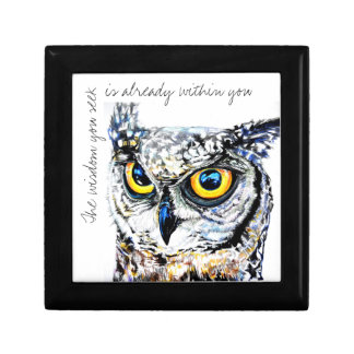 The wisdom is within you Owl Small Square Gift Box