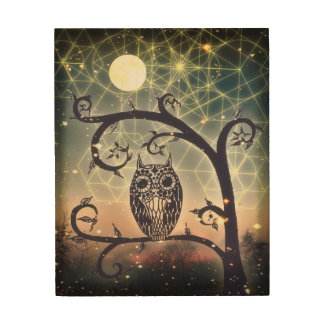 the Wise Old Owl Wood Print
