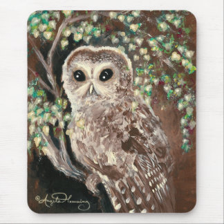 The Wise Serious Owl Mousepad