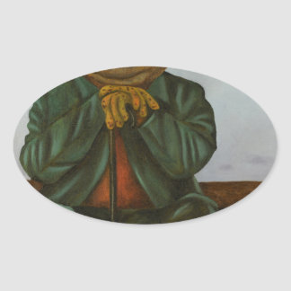 The Wise Toad Oval Sticker