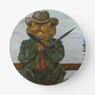 The Wise Toad Round Clock