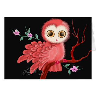 The Wistful Owl Postcard, Note Cards, Greeting Greeting Card