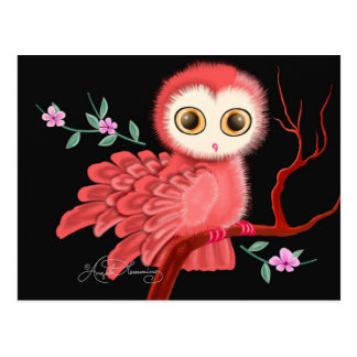 The Wistful Owl Postcard, Note Cards, Greeting Postcard