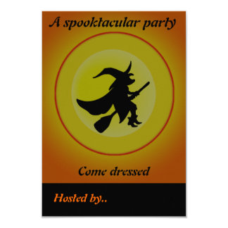 The Witch - 9 Cm X 13 Cm Invitation Card