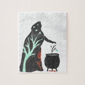 The Witch And Her Cauldron Jigsaw Puzzle