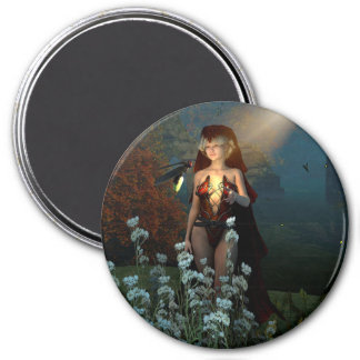 The witch speaks with their firefly in the night magnets