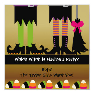 The Witches Halloween Birthday Party Invite