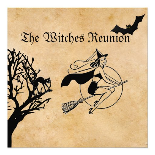 The Witches Reunion Halloween Party Invite