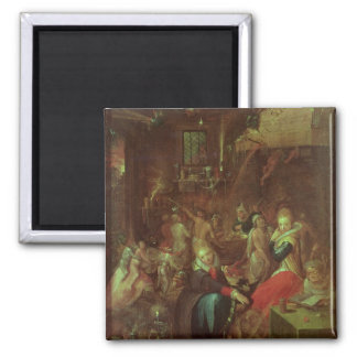 The Witches' Sabbath, 1606 Square Magnet