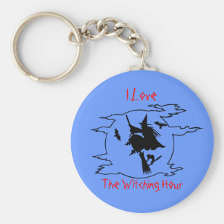 The Witching Hour Basic Round Button Key Ring
