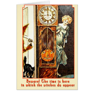 The Witching Hour Vintage Halloween Art Cards