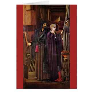 """The Wizard"", by Edward Burne-Jones Greeting Card"