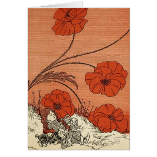 The Wizard of Oz Dorothy and Toto in the Poppy Fie Card