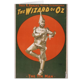 The Wizard of Oz, 'The Tin Man' Retro Theater Card