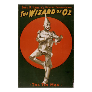 The Wizard of Oz Tin Man ad Poster