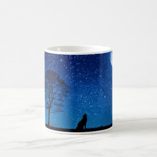 The wolf and the full mooon coffee mug
