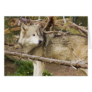 The Wolf Stationery Note Card