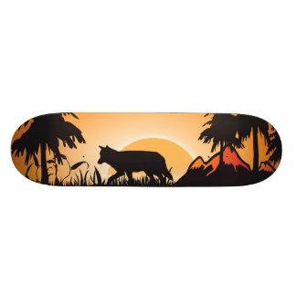 The wolf skateboard