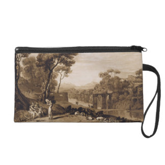 The Woman and Tambourine, engraved by Charles Turn Wristlet Clutch