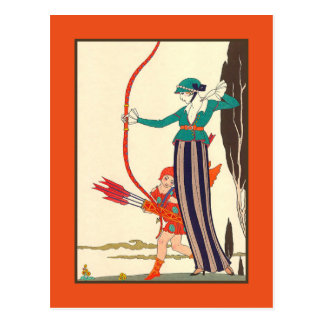 The Woman Archer Postcard