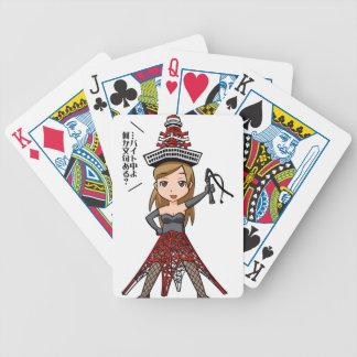 The woman English story, Minato Tokyo Yuru-chara a Bicycle Playing Cards