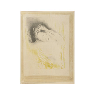 The woman from Sulem, Odilon Redon, 1897 Wood Poster