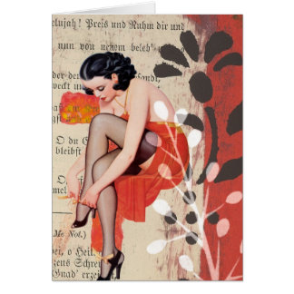 The Woman in Red Lingerie, Birthday Card