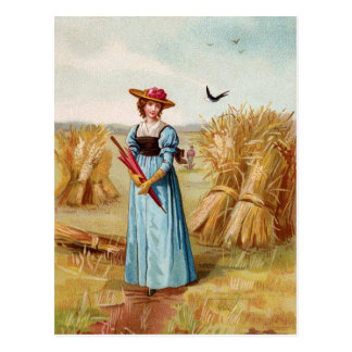 The Woman in the Wheat Field Postcard