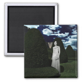 The Woman in White Square Magnet