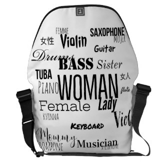 THE WOMAN MESSENGER BAG MUSIC EDITION (black)
