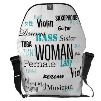 THE WOMAN MESSENGER BAG MUSIC EDITION (blue)