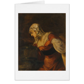 The Woman of Samaria at the Well, c.1560 (oil on c Card