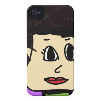 the women with black hair iPhone 4 case